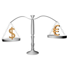 Balance with dollar and euro