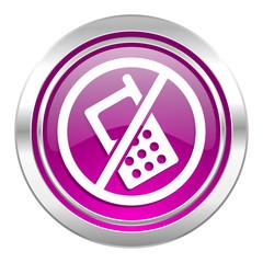 no phone violet icon no calls sign