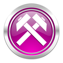mining violet icon