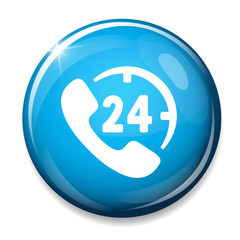 Phone sign icon. Support symbol. 24h Call center