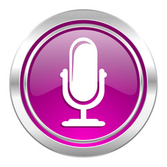 microphone violet icon podcast sign
