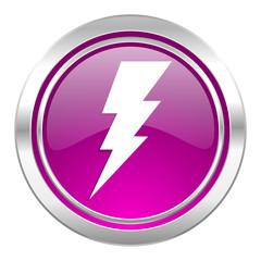 bolt violet icon flash sign