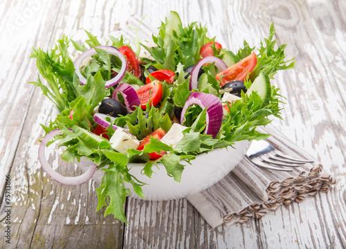 canvas print picture Fresh salad.