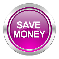 save money violet icon