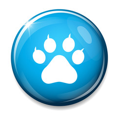 Dog paw sign icon. Pets symbol