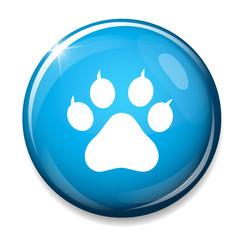 Dog paw sign icon. Pets symbol