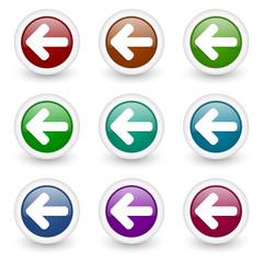 arrow web icons vector set