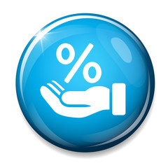 Discount percent sign icon.