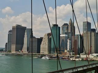 Skyline New York von der Brooklynbridge