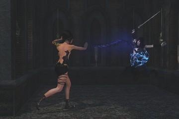 Sorceress and palace guard