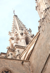 Gothic Cathedral detail, Mallorca, Spain.