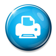 Print sign icon. Printing symbol. Print button