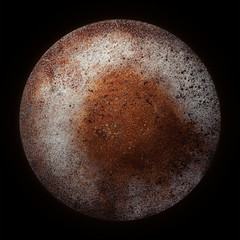 metal planet background