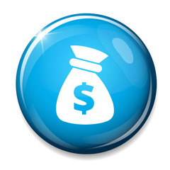 Money bag icon. USD currency symbol.