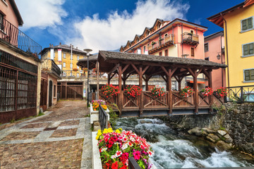 small bridge in Pontedilegno, Italy