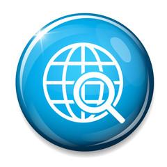 Global search icon. World globe symbol.