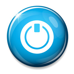 Power sign icon. Turn on energy.