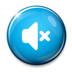 Mute speaker icon. Media Sound Button.