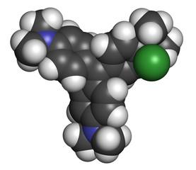 Crystal (gentian) violet molecule. Dye used in Gram staining.