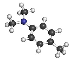 N,N-dimethyl-p-toluidine (DMPT) molecule.