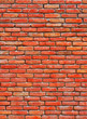 Texture of Red brick wall.