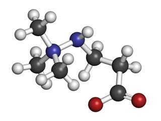 Meldonium anti-ischemic drug molecule.