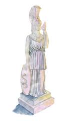 Pallas Athena, original watercolor sketch.