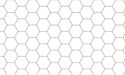simple pattern of hexagons