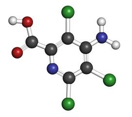 Picloram herbicide molecule.