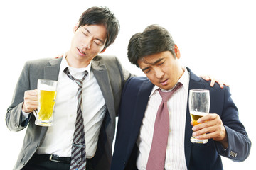 酔っぱらったビジネスマン