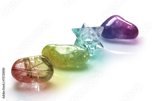 Fotobehang Edelsteen Rainbow Healing Crystals