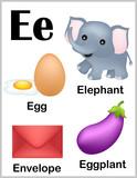Fototapety Alphabet letter E pictures
