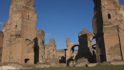 Caracalla baths, ancient Roman ruins in Rome, Italy