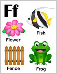 Alphabet letter F pictures