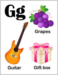 Alphabet letter G pictures