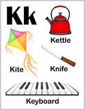 Fototapety Alphabet letter K pictures