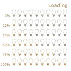 bulb preloaders and progress loading bars