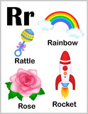 Fototapety Alphabet letter R pictures