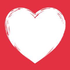 watercolor heart, Valentine, vector illustration