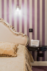 Baroque style bedroom interior
