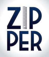 Zipper design, vector illustration.