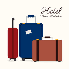 Hotel design over white background vector illustration