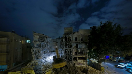 Demolition building time lapse