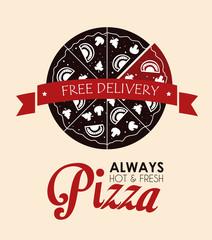 Pizza design, vector illustration.