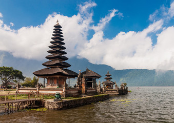 Pura Ulun Danu temple on a lake Bratan, Bali, Indonesia