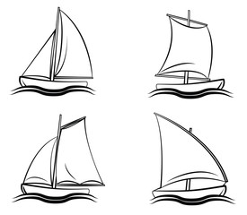Boat Symbol Set Collection