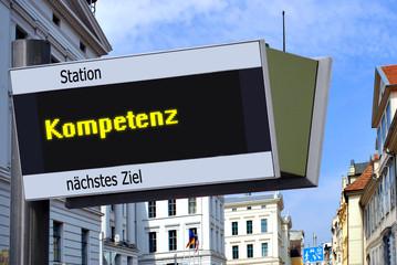 Anzeigetafel 7 - Kompetenz