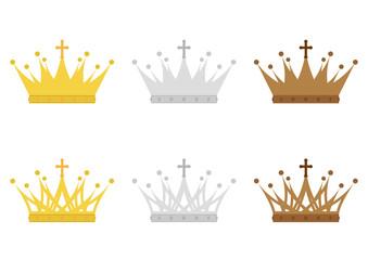 王冠のイラスト素材