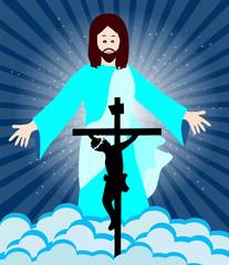 Jesus Christ crucifixion and resurrection