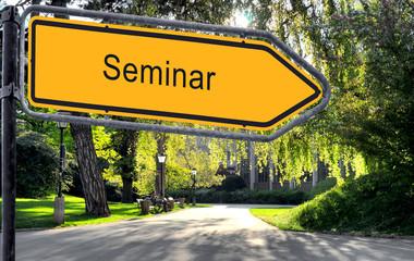 Strassenschild 25 - Seminar